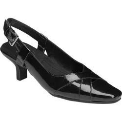 Women's A2 by Aerosoles Dimprint Slingback Pump Black Faux Patent