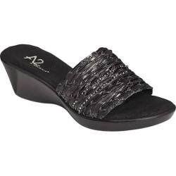 Women's A2 by Aerosoles Say Yes Black Sparkle Faux Leather