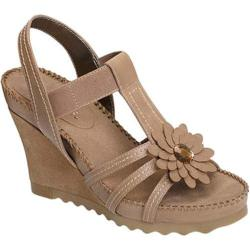 Women's Aerosoles Cottontail Wedge Sandal Taupe Faux Suede