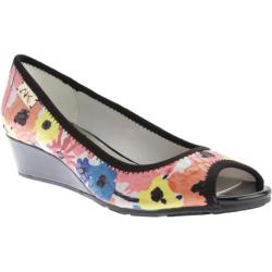 Women's Anne Klein Camrynne Wedge Pink Multi/Black Fabric