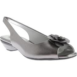 Women's Anne Klein Lesta Slingback Pewter Synthetic