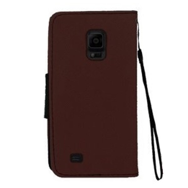 INSTEN Folio Flip Leather Wallet Flap Pouch Phone Case With Stand For Samsung Galaxy Note 4
