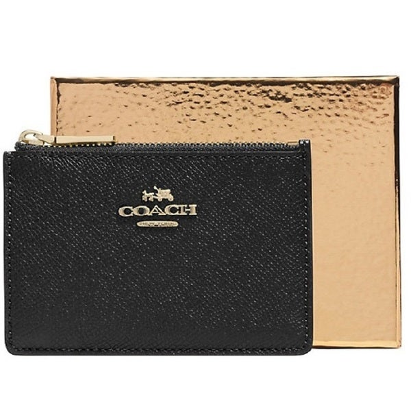 Coach Embossed Leather Mini Skinny Wristlet