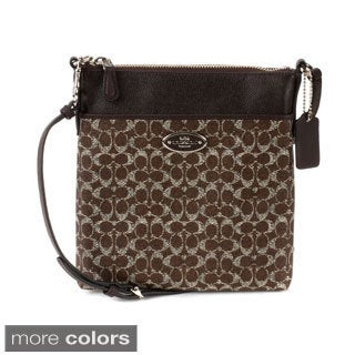 Coach North/South Swingpack In Signature Coated Canvas