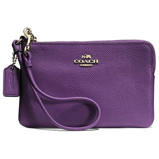 Coach Embossed Leather Small L Zip Wristlet