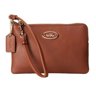 Coach L-Zip Small Leather Wristlet