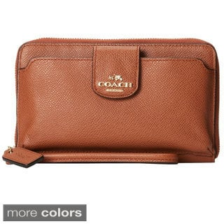 Coach Pocket Universal Leather Phone Wallet