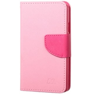 INSTEN Folio Flip Leather Wallet Flap Pouch Phone Case With Stand For LG Optimus F60/ Tribute/ Transpyre