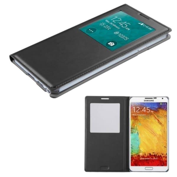 Insten Flip Folio Leather Phone Case with Half-window for Samsung Galaxy Note 3