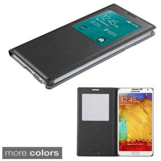 Insten Flip Folio Leather Phone Case with Half-window for Samsung Galaxy Note 3