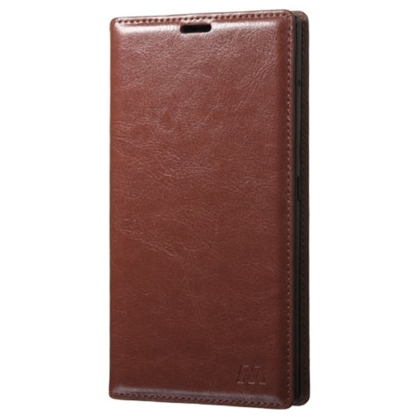 INSTEN Brown Folio Flip Leather Wallet Flap Pouch Phone ...