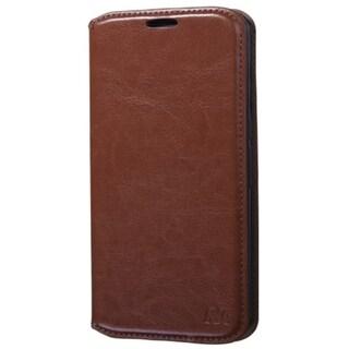 INSTEN Folio Flip Leather Wallet Flap Pouch Phone Case With Stand For Motorola Nexus 6