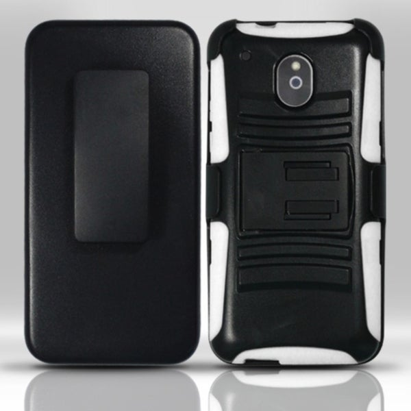 INSTEN Advanced Armor Dual Layer Hybrid PC/ Soft Silicone Holster Phone Case With Stand For HTC One Mini 2013 July