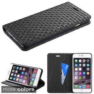 INSTEN Folio Flip Leather Wallet Flap Pouch Phone Case With Stand For Apple iPhone 6 Plus