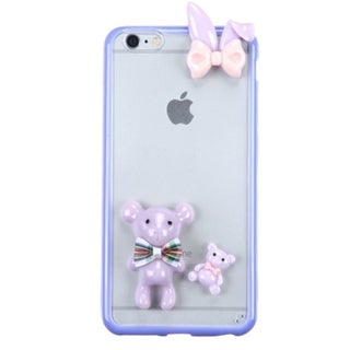 INSTEN 3D TPU Rubber Candy Skin Phone Case Cover For Apple iPhone 6 Plus