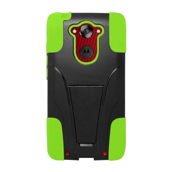 INSTEN Dual Layer Hybrid PC/ Soft Silicone Phone Case With Stand For Motorola Droid Turbo