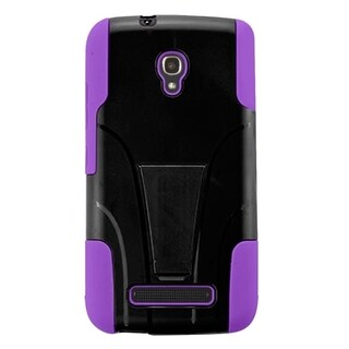 INSTEN Dual Layer Hybrid PC/ Soft Silicone Phone Case With Stand For Alcatel One Touch Pop Mega