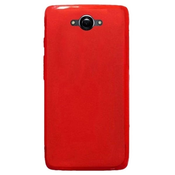 INSTEN Red TPU Rubber Candy Skin Phone Case Cover For Motorola Droid Turbo