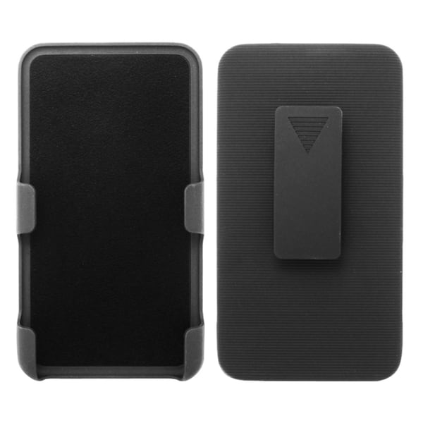 INSTEN Black Rubberized Hard Slim Snap-on Holster Belt Clip For Samsung Galaxy Note 3