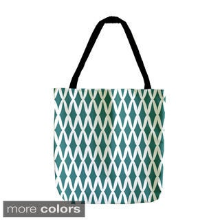 Holiday Geometric Small Lattice 18-inch Tote Bag