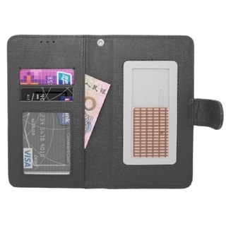 INSTEN Universal Leather Wallet Flap Pouch Phone Case Cover For 5.5-inch