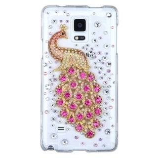 INSTEN 3D Crystal Hard Slim Snap-on Phone Case Cover With Diamond For Samsung Galaxy Note 4