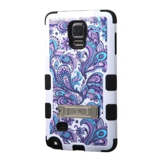INSTEN Tuff Wave Dual Layer Hybrid Rubberized Hard PC/ Soft Silicone Phone Case With Stand For Samsung Galaxy Note 4