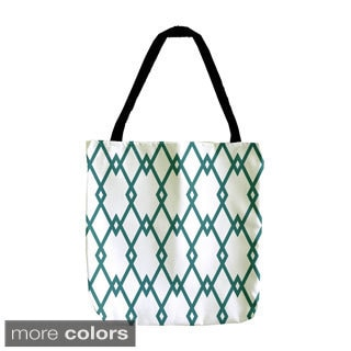 Holiday Geometric Diamond Lattice 18-inch Tote Bag