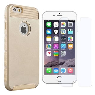 INSTEN Dual Layer Hybrid PC/ Soft Silicone Phone Case Cover Combo With Anti-Glare Screen Protector For Apple iPhone 6
