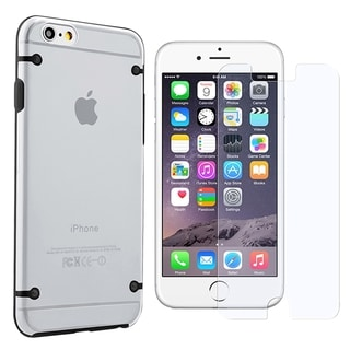 INSTEN TPU Rubber Candy Skin Phone Case Cover Combo With Anti-Glare Screen Protector For Apple iPhone 6