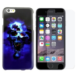 INSTEN Leopard Rubberized Hard Snap-on Phone Case Cover Combo With Anti-Glare Screen Protector For Apple iPhone 6 Plus/ 6+