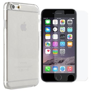 INSTEN Clear Crystal Hard Snap-on Phone Case Cover Combo With Anti-Glare Screen Protector For Apple iPhone 6 Plus/ 6+