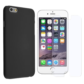 INSTEN Rubberized Hard Snap-on Phone Case Cover Combo With Anti-Glare Screen Protector For Apple iPhone 6