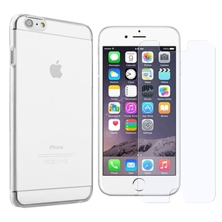 INSTEN Clear Crystal Hard Snap-on Phone Case Cover Combo With Anti-Glare Screen Protector For Apple iPhone 6