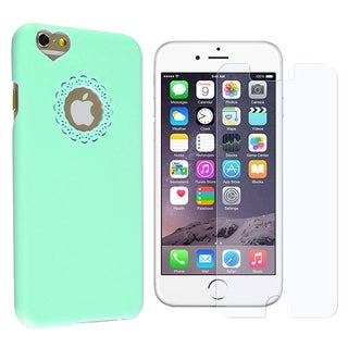 INSTEN Sweet Heart Rubberized Hard Snap-on Phone Case Cover Combo With Anti-Glare Screen Protector For Apple iPhone 6