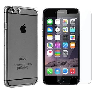 INSTEN Clear Crystal Hard Snap-on Phone Case Cover Combo With Clear Screen Protector For Apple iPhone 6 Plus/ 6+