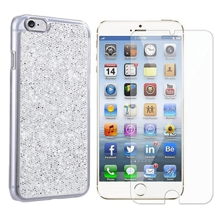 INSTEN Glitter Hard Snap-on Phone Case Cover Combo With Clear Screen Protector For Apple iPhone 6