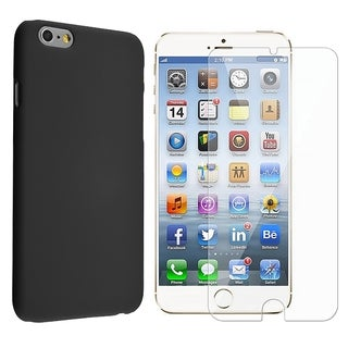 INSTEN Rubberized Hard Snap-on Phone Case Cover Combo With Clear Screen Protector For Apple iPhone 6