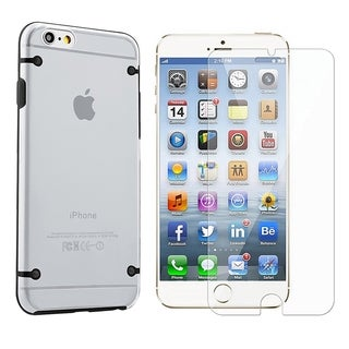 INSTEN TPU Rubber Candy Skin Phone Case Cover Combo With Clear Screen Protector For Apple iPhone 6