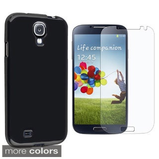 INSTEN TPU Rubber Candy Skin Phone Case Cover Combo With Anti-Glare Screen Protector For Samsung Galaxy S4 GT-i9500
