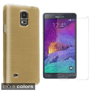 INSTEN Silk TPU Rubber Candy Skin Phone Case Cover Combo With Anti-Glare Screen Protector For Samsung Galaxy Note 4