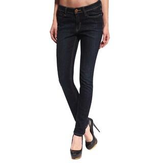 Anladia Women's Dark Blue Skinny Jeans