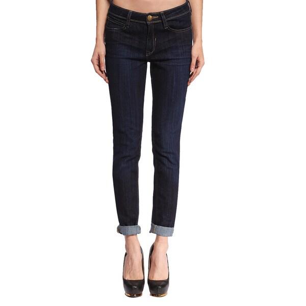 Anladia Women's Dark Blue Relaxed Denim Jeans