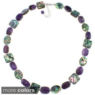 Pearlz Ocean Abalone and Gemstone Necklace