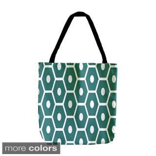 Holiday Geometrics 18-inch Dot Hexagon Tote Bags
