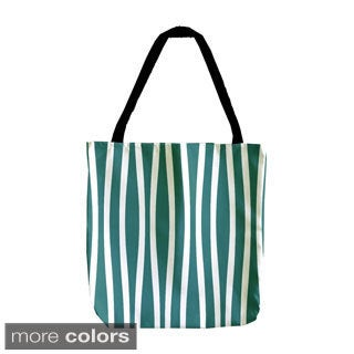 Holiday Wavy Stripe 18-inch Tote Bags