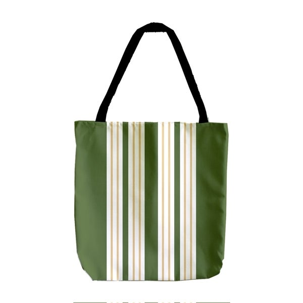 Holiday Multi-stripe 18-inch Tote Bags