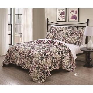 Juniper Floral 3-piece Quilt Set