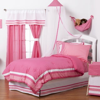 Girls' Simplicity Hot Pink 4-piece Comforter Set