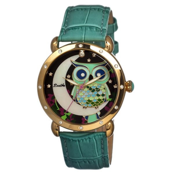Bertha Women's Ashley Turquoise Leather Analog Watch (As Is Item)